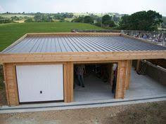 bac a avec toit garage toit plat avec buché g modern garage and modern