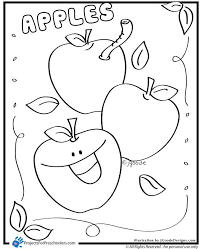 Apple Coloring Pages For Preschoolers AZ Spesific
