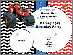 INDIVIDUAL RedesignedBlaze And The Monster Machine Blaze And The Monster Machines Invitation Birthday Truck Cake Cbertha Fashion And The Party Supplies Canada Open Amazoncom Invitations 8ct Its Fun 4 Me 5th Themed Alanarasbachcom Machine By Free Printable Cupcake Fill In Design Sophisticated