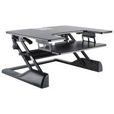 bureau assis debout bureau assis debout contemporain noir bureaux et postes de