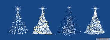 Sparkling Christmas Trees Cover Photos For Facebook