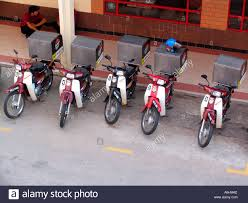 Pizza Hut Delivery Mopeds Wth Warm Storage Boxes Kota Bharu Malaysia