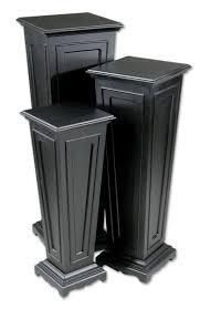 Uttermost Keir Black Plant Stands Set 3