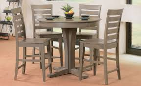 Weathered Gray Pub Table And 4 Stools - Dining Room