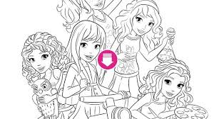LEGO Friends Coloring Page Pinterest