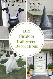 Halloween Witch Yard Stakes by Diy Outdoor Halloween Decorations The Idea Room