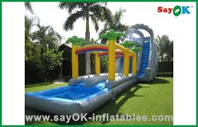 China Backyard Kids Inflatable Bouncer Slide Action Air Jumping Castle With Pool Supplier