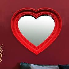 wand schmink spiegel glas herz form rot mädchen ornament rahmen schlafzimmer bhp b991484 5