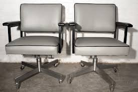 SOLD - Pair Of 1970s SteelCase Industrial Office Chairs, Refinished ...