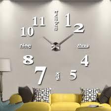 große 3d design wanduhr aufkleber muster luxus spiegel hause dekoration diy schlafzimmer wohnzimmer wohnkultur