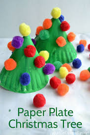 Cute Paper Plate Christmas Trees Craft
