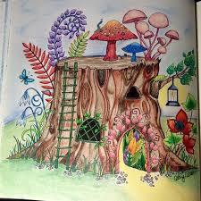 Tree Stump House Enchanted Forest Johanna Basford
