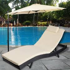 Picture Of Outdoor Pool Chaise Lounge Chair Patio Furniture Adjustable With Cushion