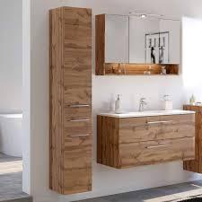 elegante badmöbel kombination lemnas 3 teilig
