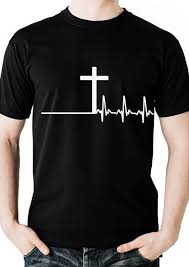Cross Pumpkin Carving Patterns Christian by Men U0027s Christian Tshirt With Cross And Heartbeat Design