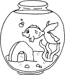 Great Fish Tank Coloring Page 37 On Picture With