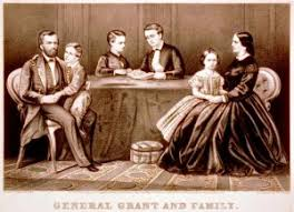 General Ulysses S Grant And Family Portrait Civil War Art Drawing Print 1867 By Currier Ives