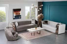 lidya wohnzimmer set lucca grau weiß