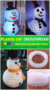 DIY Plastic Cup Snowman Lights Instruction DIY Christmas Lights