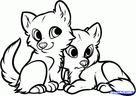Cute Baby Animal Coloring Pages Dragoart Anime Animals