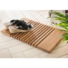 holzvorleger aus teakholz ideal für bad und saunabereich