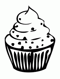 Cupcake Outline · Cupcake Drawing Outline Gallery · Cupcake Outline Clipart Black And White Free