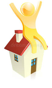 Download Happy House Person Stock Illustration Of Houses