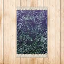 Soft Grass And Leafs Texture Purple Dark Green