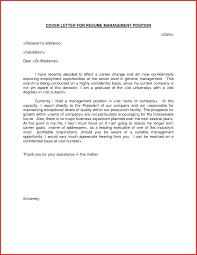 Cover Letter For Supervisor Position Resume Template Pinterest Management