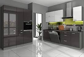 küche iv 240 160 cm küchenzeile in hochglanz grau weiss küchenblock grey