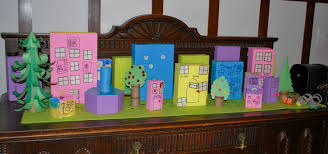 how to do something how to make a town from recycled boxes