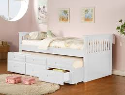 twin captain bed with twin trundle 3 drawers