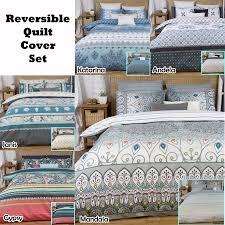 100 Apartmento 3 Pce Reversible Quilt Doona Duvet Cover Set By
