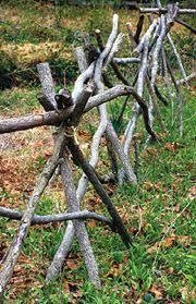 Tree Branch Fence Wattle FenceGarden FencingFencesDiy