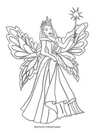 Fairy Coloring Pages To Bring Out The Hidden Artist In Your Child