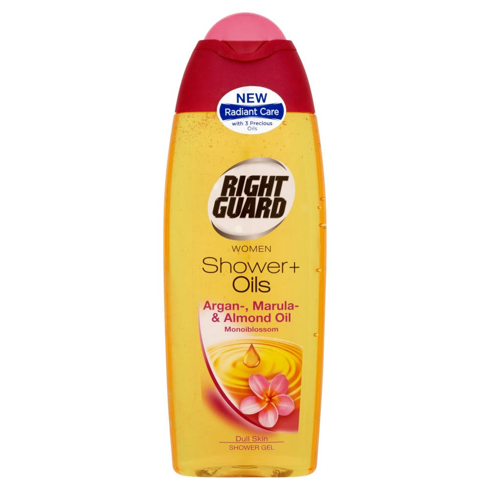 Right Guard Women Shower+ Oils Shower Gel - Argan Marula & Almond Oil Monoiblossom, 250ml