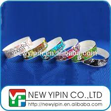 Eventparty Supplies Full Color Print Cheap One Time Use Waterproof Wristband Paper