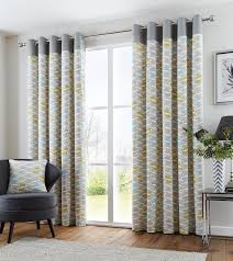 Amazon Uk Living Room Curtains by Homescapes Yellow Eyelet Curtain Pair 167cm 66