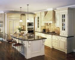 Cream Kitchen Cabinets With Dark Countertops Designs
