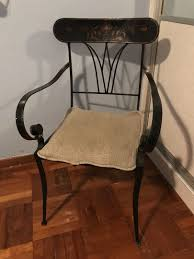 Magnificent Wrought Iron Chairs Dining White Rocking Barrel ...