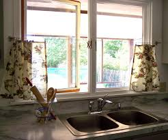 Kitchen Curtain Ideas For Large Windows kitchen curtain ideas for large windows combined naturally home
