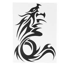 Tattoo Sticker Dragon Waterproof Body Art Temporary Tattooing Pa
