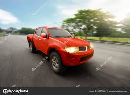 Red Four Door Pickup Truck — Stock Photo © Leolintang #145571945