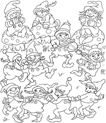 Hard Christmas Coloring Pages Printable For Kids Free 2