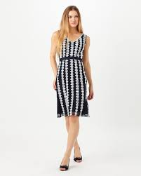 chessy lace dress navy white phase eight