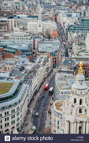100 Birdview London Street Birdview From The Top Of StPaul Cathedral Stock Photo