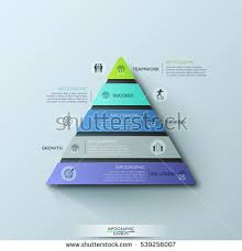 Modern Infographic Design Template Triangular Chart With 5 Numbered Layers Or Levels Pictograms And