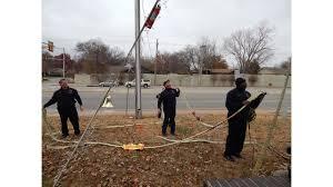 Flagpole Christmas Tree by Fire Hose Makes Christmas Tree At Tulsa Fire Station Firehouse