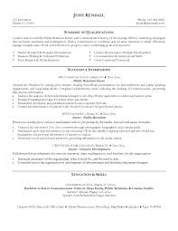 Communications Resume Examples Pr Public Relations You Need A Of