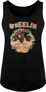 Amazon.com: BSW Women's Wheelin Mud Slut Mudding 4x4 Truck Tank ...